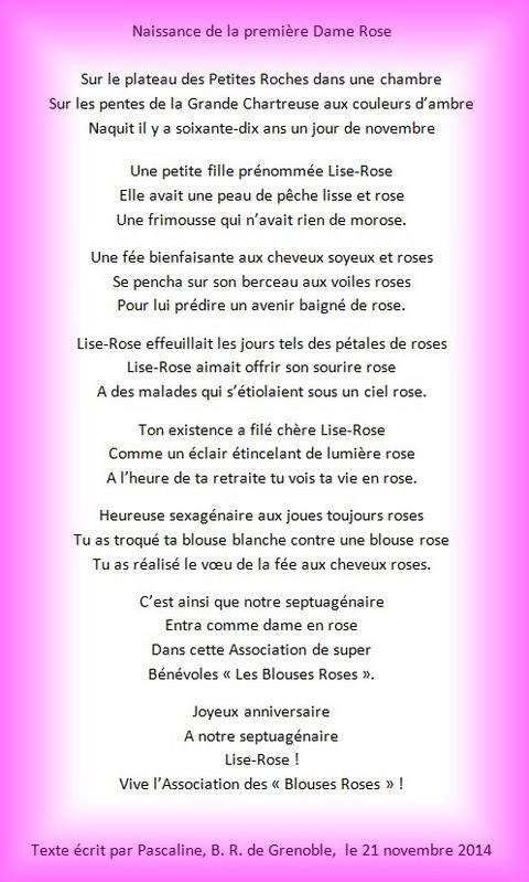 Novembre 2014 70 Bougies Pour Les Blouses Roses Comite Blouses
